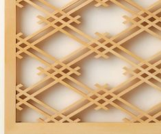 Japanese Ornamental Woodwork Panels from Biden Designs and are available in thirteen patterns. Japanese Joinery, Japanese Woodworking, Japanese Design, Woodworking Ornaments, Woodworking Projects, Window Grill Design, Art Carved, Wood Boxes, Wood Design