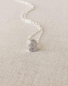 Cute! Lower case A necklace!