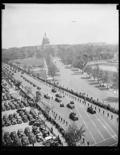 This is a photograph we dug up at the Library of Congress. It shows a parade in honor of Nicaraguan President Gen. Anastasio Somoza, visiting the Washington DC on May 5th, 1939.