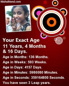 Your Photo with Your Exact Age has been generated