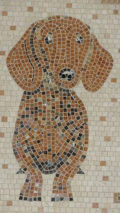 "Willy mosaic, framed: 25 x 18"" by Zanewerks USA (Etsy)"