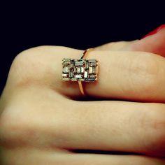 """Fireworks"" 18K Rose Gold Champagne Diamond Ring - Plukka - Shop Fine Jewelry Online"