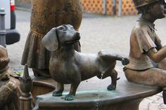 Dachshund Fountain. I don't know where this fountain is, but I love it!!!!