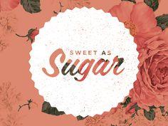 Sugar #typography #logo #design #collage