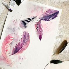 WEBSTA @ watercolor.illustrations -  Watercolorist: @canotstoppainting#waterblog #акварель #aquarelle #painting #drawing #art #artist #artwork #painting #illustration #watercolor #aquarela