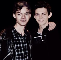 Oh my gosh I can not even THOMAS BRODIE SANGSTER AND ROBBIE KAY