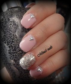 cute pink with glitter....