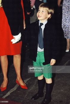 Prince William with his mother Diana, Princess of Wales, at the Royal Tournament in Earls Court, on July 28, 1988 in London, England.