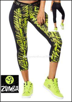 ZUMBA Jungle boogie Capri Leggings fr.Convention Rare Elite-ZW M L #ZumbaFitness #PantsTightsLeggings