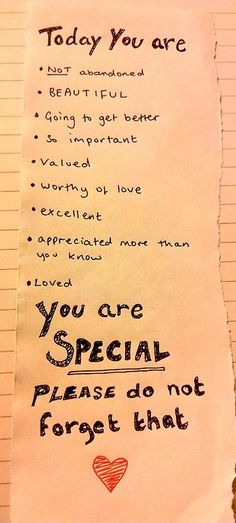 You are SPECIAL :)