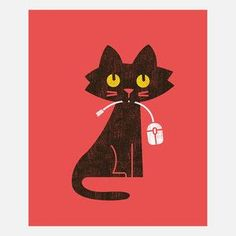 Hungry Cat Canvas Wrap