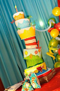 Dr.Seuss Birthday Cake