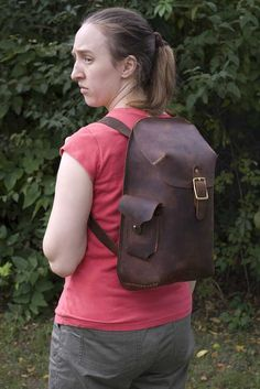 Handmade Leather Daypack by jessupleather on Etsy