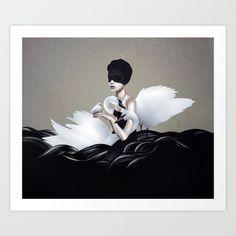Let go Art Print by Ruben Ireland - $18.00