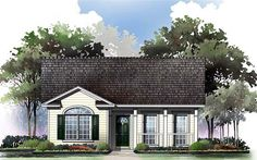 House Plan 59043 | #CapeCod Country #Ranch Traditional #Plan with 1000 Sq. Ft., 2 Bedrooms, 2 Bathrooms at Familyhomeplans.com.