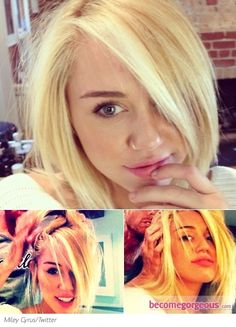 Miley Cyrus gets new 'do