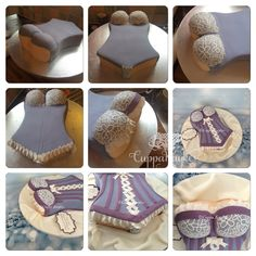 Corset Cake tutorial in pictures pictorial - part two