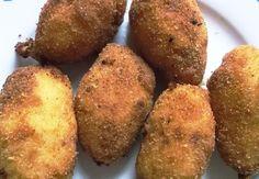 Croquetas de jamón Baked Potato, Muffin, Potatoes, Baking, Vegetables, Breakfast, Ethnic Recipes, Gastronomia, Shape