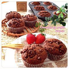 りるのん's dish photo バレンタイン たっぷりチョコチップ入りチョコレートマフィン   http://snapdish.co #SnapDish #レシピ #バレンタイングランプリ2014 #おやつ #ケーキ #バレンタイン #アメリカ料理