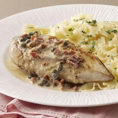 Chicken with Garlic-Caper Sauce Recipe from Taste of Home -- shared by Marilee Anker of Chatsworth, California