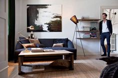 Comfortable dark room colors, simple lines, strong materials, brutal details, comfort and functionality define and anchor masculine interior design style. Lushome collection of interior design photogr