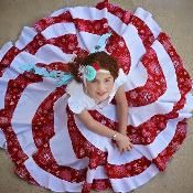 The Peppermint Swirl Dress - via @Craftsy