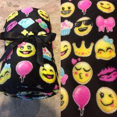 "Emoji's 50"" × 60"" Soft Fleece Throw Blanket Black Multi Color Emojis Christmas #MomentumBrands"