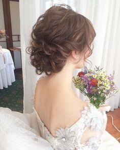 Pin on Bridal Hairstyle Pin on Bridal Hairstyle Evening Hairstyles, Dance Hairstyles, Bride Hairstyles, Wedding Hair And Makeup, Bridal Hair, Hair Makeup, Up Styles, Hair Styles, Hair Arrange