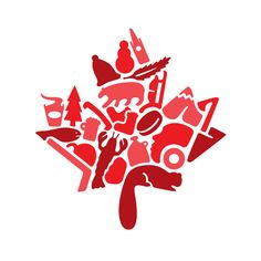 100 Logos in 100 Days by Hayden Aube, via Behance Canadian Things, I Am Canadian, Canadian Maple, Canada Logo, Canada 150, Toronto Canada, Cricut Canada, Canada Day Shirts, Mexico Canada