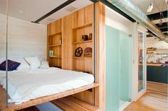 small & tiny home ideas: the liftable bed