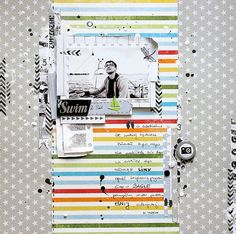 I {lowe} SCRAP :: 'Tis The Season' :: by All That Scrap. I like the idea of journaling between the lines on the paper.