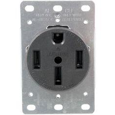 279 Single-Flush Range Receptacle (4 wire)