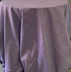 Purple shwe shwe tablecloth