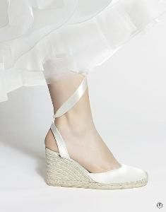 Rosa Clara Wedge Wedding Shoes  Kind of like this one.