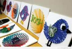 Some ideas to make String Art projects with kids | String Art DIY | Free patterns and templates to make your own String Art