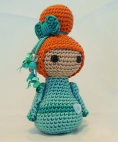 Handmade Crochet Geisha Doll.  Amigurumi
