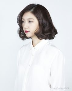 Korea – The Beige Thread - Korea – The Beige Thread - Su Wave Perm Short Hair, Short Permed Hair, Permed Hairstyles, Modern Hairstyles, Girl Short Hair, Korean Perm, Korean Short Hair, Asian Hair Perm, Medium Hair Styles
