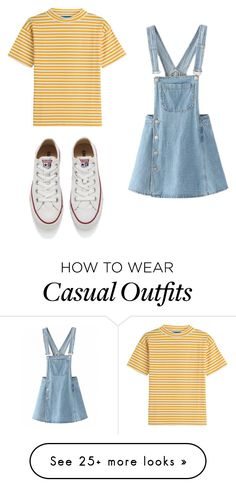 """Casual #59"" by madison-rspivey on Polyvore featuring M.i.h Jeans and Converse"