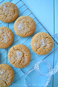 Soft-&-Chewy-Ginger-Cookies-2-{A-Pretty-Life} Just made these. Subtle gingerbread taste but love the chewiness.