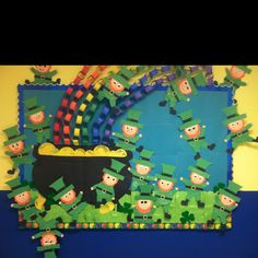 St. Patrick's Day bulletin board - with Leprechauns.