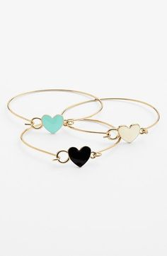 Had to get these! BP. Heart Bangles (Set of 3) available at #Nordstrom
