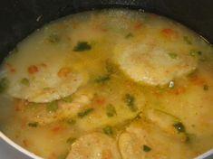 Sopa De Capirotadas Hondurenas (Cheese and Cornmeal Cake Soup). Photo by Chef Sarita in Austin Texas