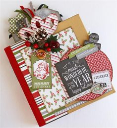 -Webster's Pages Family Traditions and Echo Park Tis' the Season…November release trés joli See it Christmas Mini Albums, Christmas Journal, Christmas Minis, Christmas Books, Christmas Crafts, Christmas Scrapbook Layouts, Scrapbook Paper Crafts, Scrapbooking Layouts, Paper Crafting