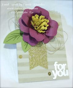 Mini Treat Bag with flower from Bouquet Bigz Die both in the Occasions Catalog 2015 www.carriestamps.com