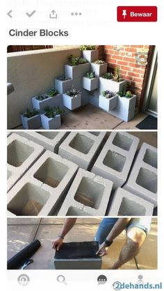 Create your own inexpensive, modern and fully customizable DIY outdoor succulent planter using cinder blocks, landscaping fabric, cactus soil, and succulents diy garden box Make This Inexpensive And Modern Outdoor DIY Succulent Planter Using Cinder Blocks