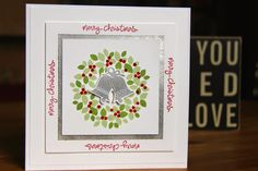 Stampin Up UK Demonstrator Zoe Tant blog Christmas Card Club with Embellished Events Wondrous Wreath Good Greetings