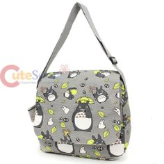 My Neighbor Totoro Messenger Bag Canvas Shoulder Body Cross Bag -All Over Prints
