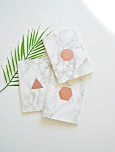 marble notebooks diy