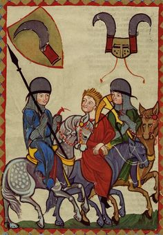 codex manesse | Manuscript Miniatures: UBH Cod. Pal. germ. 848 Codex Manesse