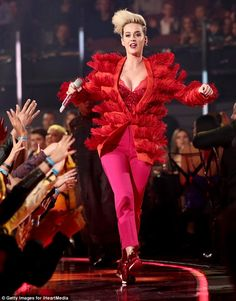 No heartbreak here: Katy Perry made a stunning first public appearance since breaking up w...